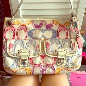 Coach over the shoulder or crossbody purse